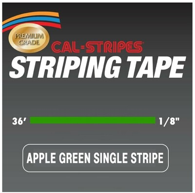 Cal-Stripes® Apple Green Single Pinstriping Tape 1/8
