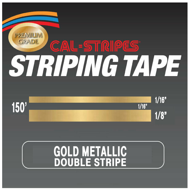 Cal-Stripes® Gold Metallic Double Pinstriping Tape 1/4