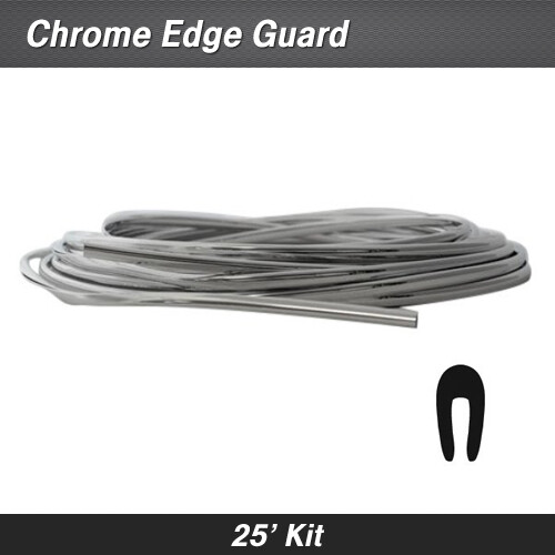 Cowles® 39-220 Chrome Full Size Door Edge Guard 25' Kit