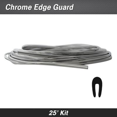 Cowles® 39-220 Chrome Full Size Door Edge Guard 25' Kit