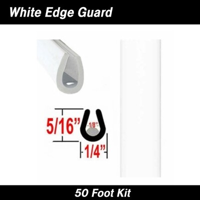 Cowles® 39-211-02 White Full Size Door Edge Guard 50' Kit