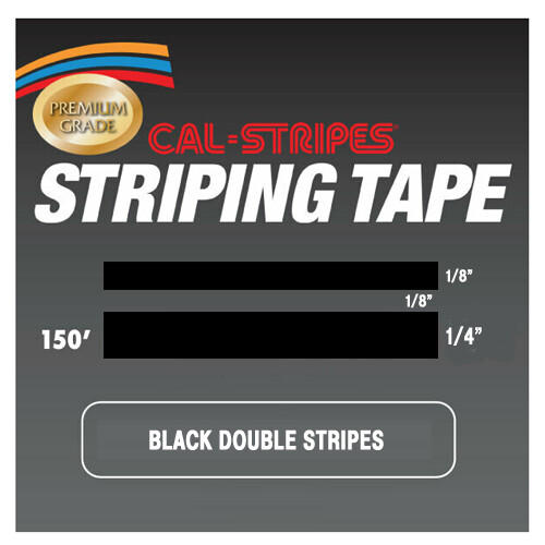 Cal-Stripes® Black Double Stripes 1/2
