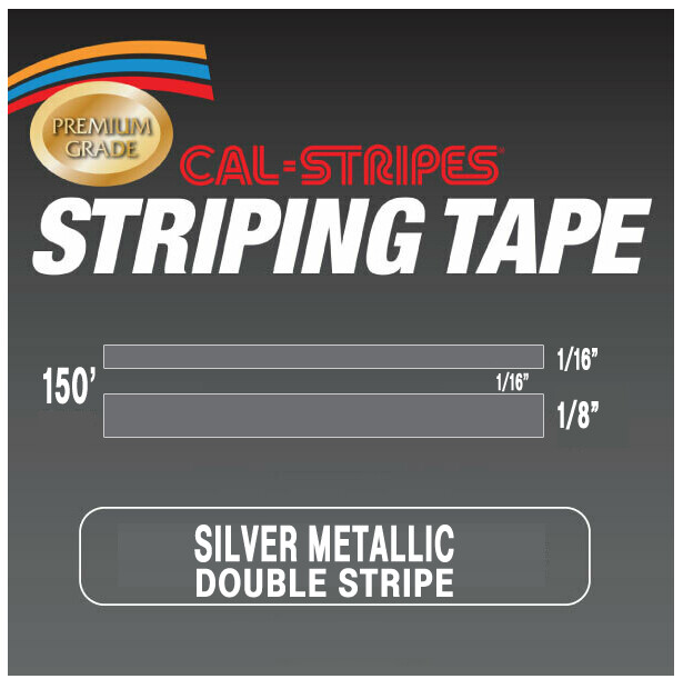 Cal-Stripes®Silver Metallic Double Pinstriping Tape 1/4