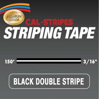 Cal-Stripes® Black Double Stripe 3/16