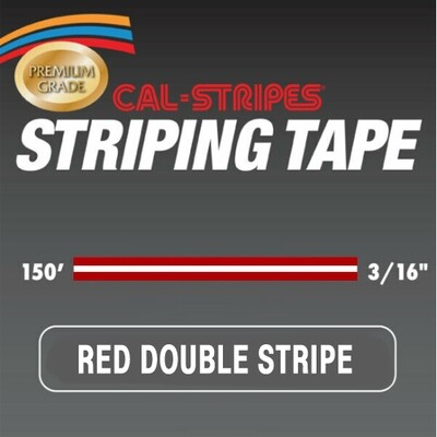 Cal-Stripes® Red Double Stripe 3/16