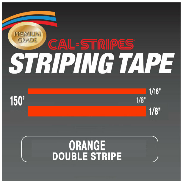 Cal-Stripes® Orange Double Stripes 5/16