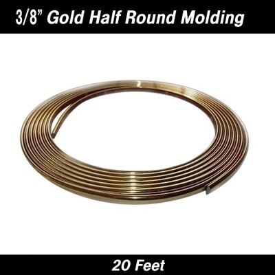 Cowles® 37-633 Gold Half Round Molding 3/8