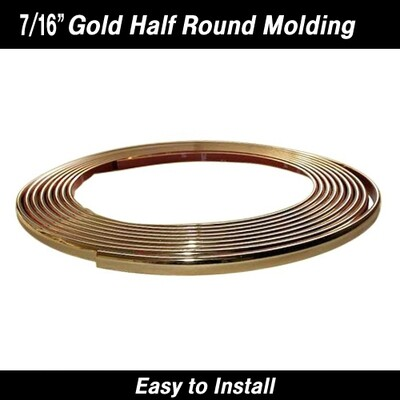 Cowles® 37-533 Gold Chrome Molding Trim 7/16