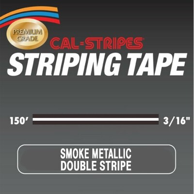 Cal-Stripes® Smoke Metallic Double Stripe 3/16