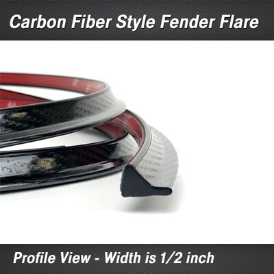 Cowles® 37-660 Carbon Fiber Style Fender Flair - 17 feet