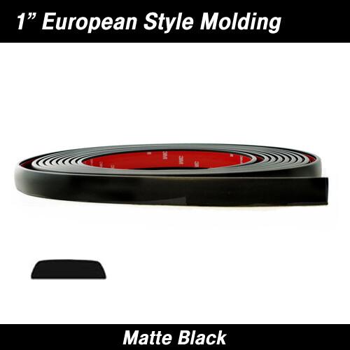 Cowles® 33-312-01 Matte Black European Style Molding 1
