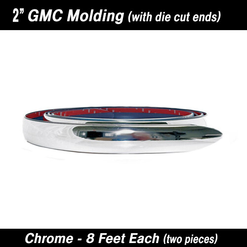 Cowles®38-650 GMC Chrome Molding w/ formed ends 2