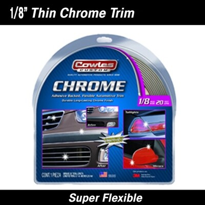 Cowles® S37780 Chrome Body Molding Trim 1/8