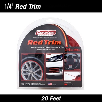 Cowles® S37525 Custom Red Molding or Trim 1/4