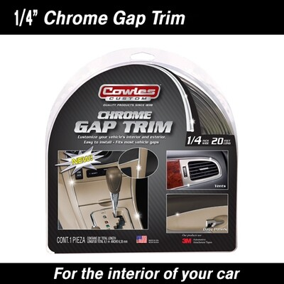 Cowles® S37530 Chrome Gap Trim 1/4