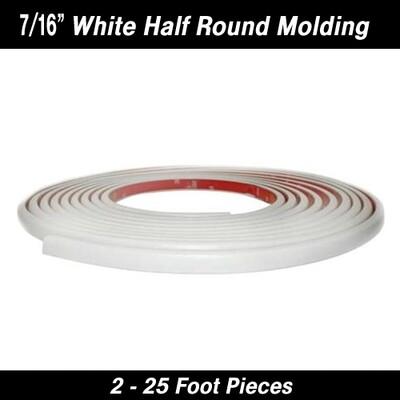 Cowles® 37-551-02 Half Round White Molding 7/16