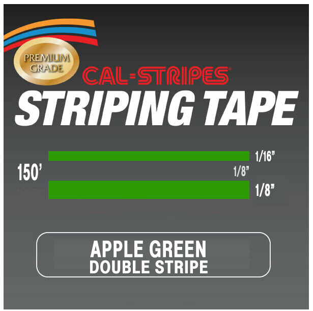 Cal-Stripes® Apple Green Double Stripes 5/16