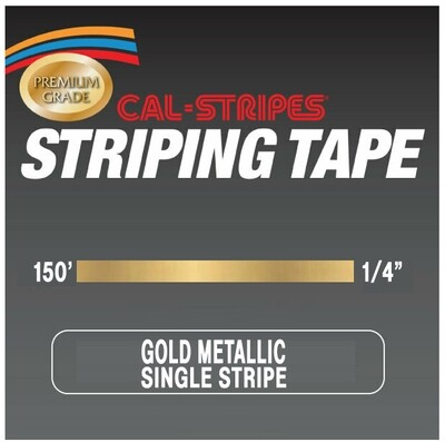 Cal-Stripes® Gold Metallic Single Stripe 1/4
