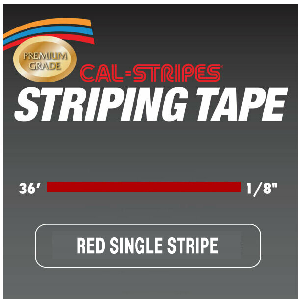 Cal-Stripes® Red Single Pinstriping Tape 1/8
