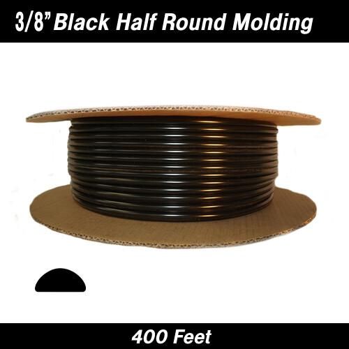Cowles® 37-601 Black Half Round Molding 3/8