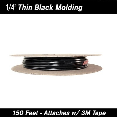 Cowles® 37-527 Custom Black Molding Trim 1/4