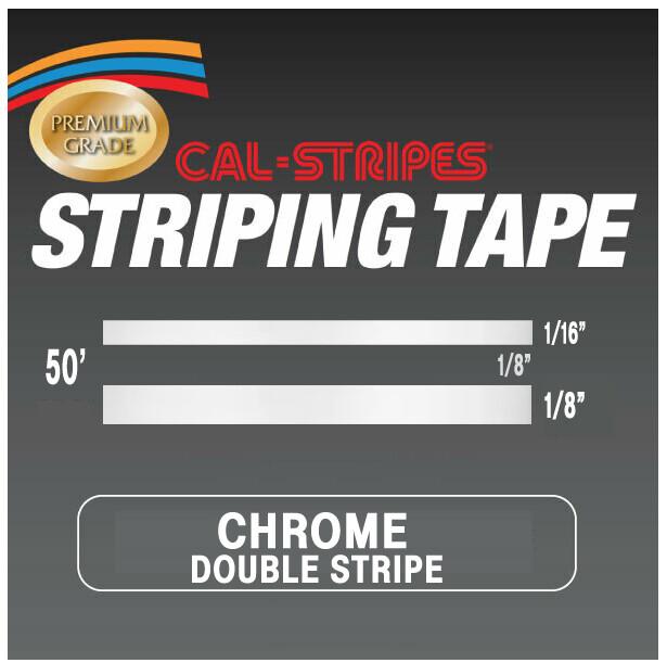 Cal-Stripes® Chrome Double Stripes 5/16