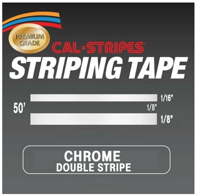 Cal-Stripes® Chrome Double Stripes 5/16