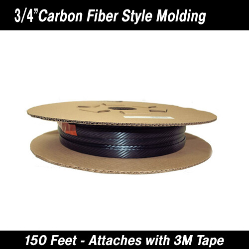 Cowles® 37-201 Carbon Fiber Style Body Molding 3/4