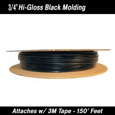 Cowles® 37-027 Hi-Gloss Black Molding 3/4