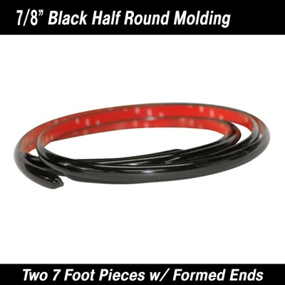 Cowles® 33-524 Black Molding w/ Formed Ends 7/8