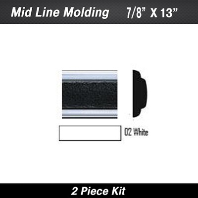 Cowles® 25-780-02 White Mid Line w/ Ends 7/8