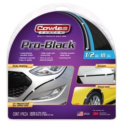 Cowles® S37751 Pro-Black Style Molding Trim 1/2