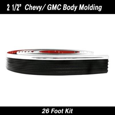 Cowles® 38-352 Chevy/GMC Black w/ Chrome Molding 2 1/2