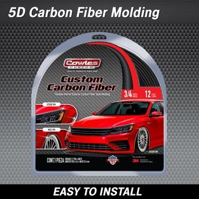 Cowles® S37735 5D Carbon Fiber Style Molding 3/4