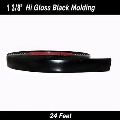 Cowles®38-424-04 Hi Gloss Black Molding 1 3/8