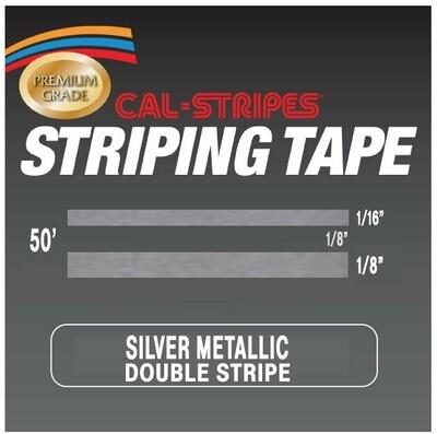 Cal-Stripes® Silver Metallic Double Stripes 5/16