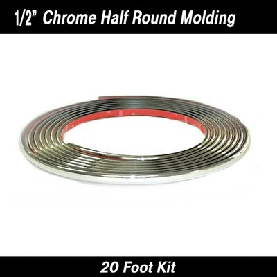 Cowles® 37-422 Chrome Half Round Style Wheel Well Molding 1/2