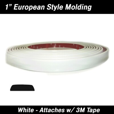Cowles® 33-312-02 White European Style Molding 1