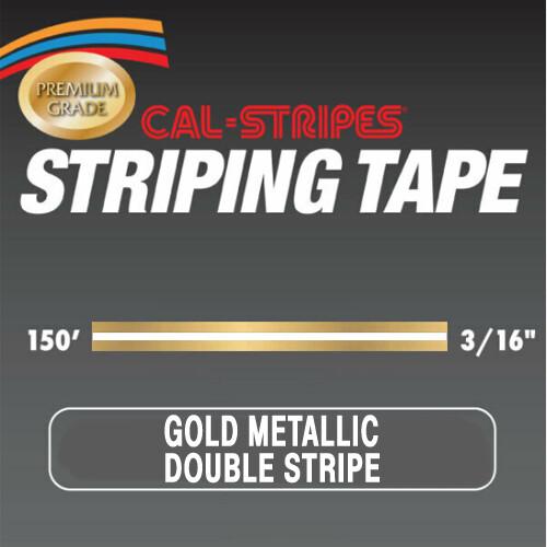 Cal-Stripes Gold Metallic Double Stripe 3/16