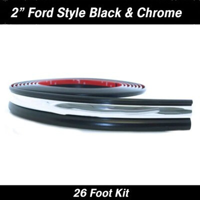 Cowles®38-756 Ford Style Black Chrome Molding 2