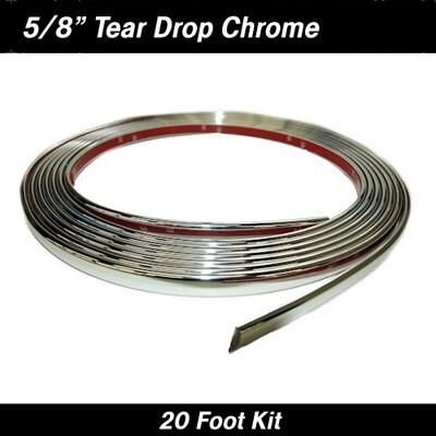 Cowles® 37-1120 Chrome Tear Drop Wheel Well Molding 5/8