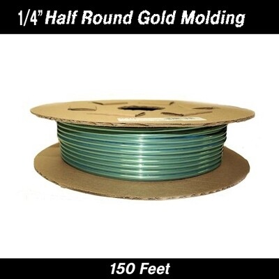 Cowles® 37-712 Gold Half Round Molding 1/4
