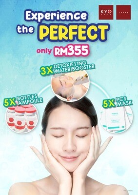 CMCO Promo -  3 x Detoxifying Water Booster + FREE Masks & Ampoules