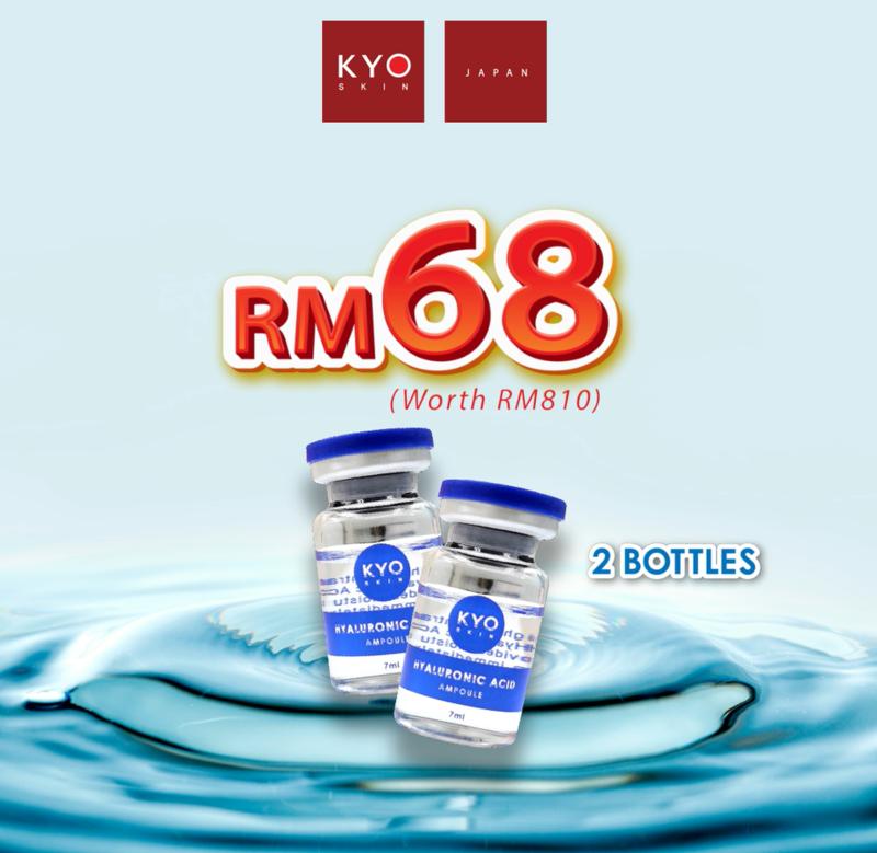 2 btls of HA Ampoule + Hydro Detoxification Facial Treatment