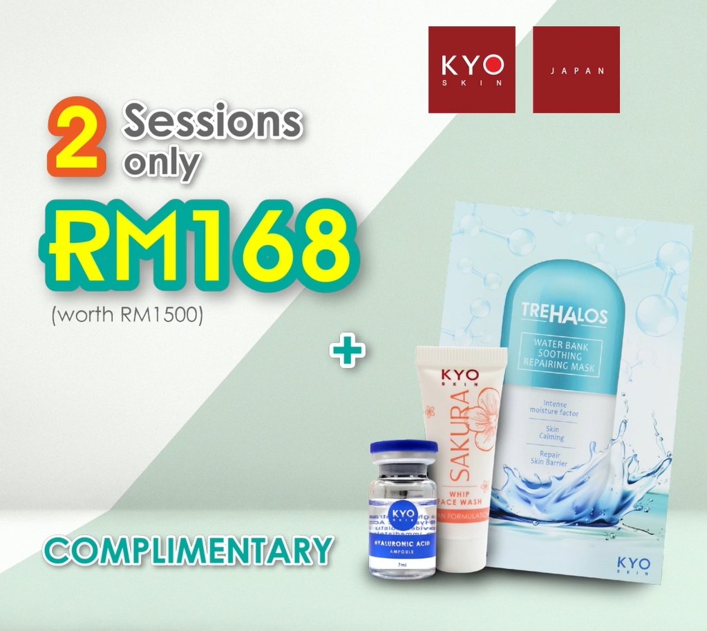 NEW CUSTOMER PROMO: 2 x Detoxifying Water Booster Facial + 1 set of Skincare Product