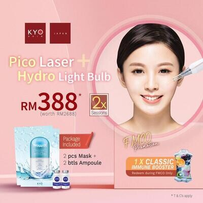 FMCO Promo - Pico Laser + Hydro Light Bulb x 2 sessions