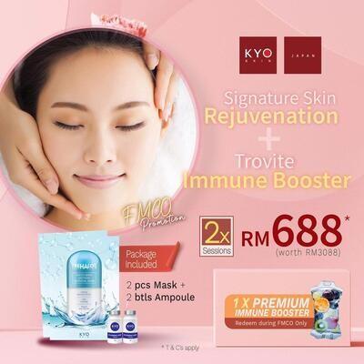 FMCO Promo - Signature Skin Rejuvenation + Trovite Immune Booster x 2 sessions