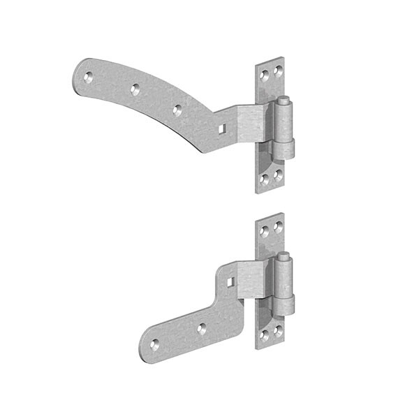 Curved & Stepped Band Hinge set 300mm (Pair)