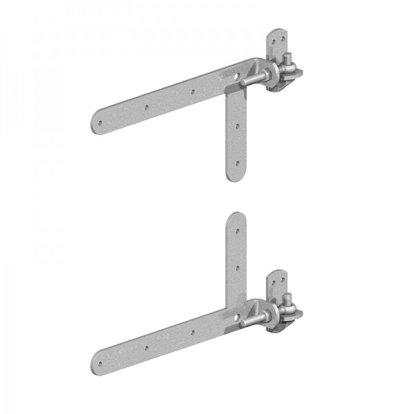 Braced Adjustable Band 350mm  & Hook Hinge Set