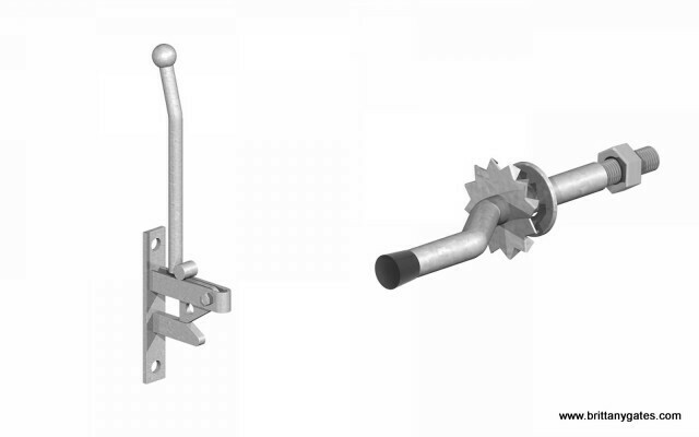 Field Gate Self Catching Latch, Long Handle